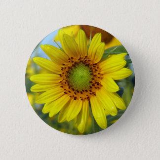 Sonnenblume Runder Button 5,1 Cm