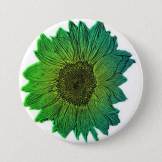 Sonnenblume Runder Button 7,6 Cm