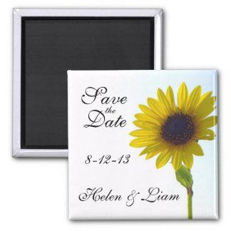 Sonnenblume-Save the Date Magnet Quadratischer Magnet