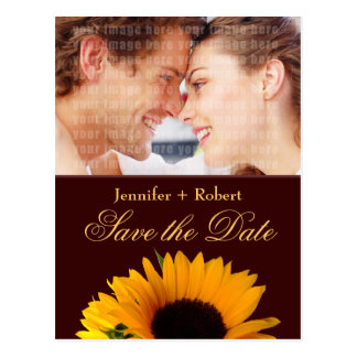 Sonnenblume-Save the Date Postkarte