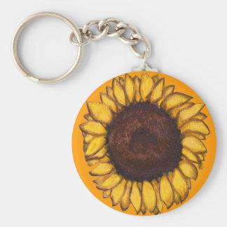 Sonnenblume-Schlüsselketten-nette gelbe Schlüsselanhänger