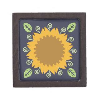 Sonnenblume Schmuckkiste
