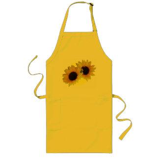 Sonnenblume-Schürze-sonnige Sonnenblume GRILLEN Sc Lange Schürze