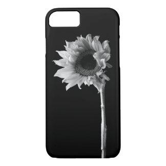 Sonnenblume - Schwarzweiss-Fotografie iPhone 8/7 Hülle