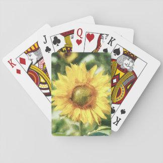 Sonnenblume Spielkarten