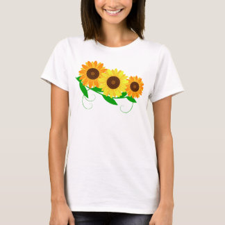 Sonnenblume-Spray-T - Shirt