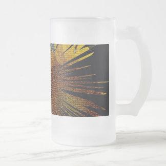 Sonnenblume-Spritzen Mattglas Bierglas