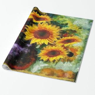 Sonnenblume-Stillleben-Geschenke durch Sharles Geschenkpapier