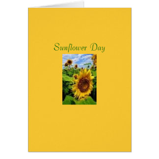 Sonnenblume-Tag Karte