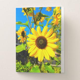 Sonnenblume-Taschen-Ordner Mappe