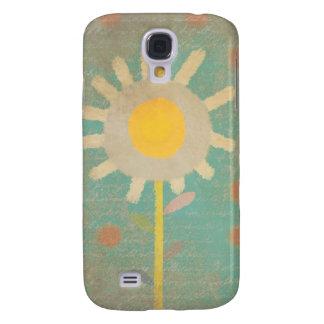 Sonnenblume-Türkis-Gedicht-Himmel Galaxy S4 Hülle