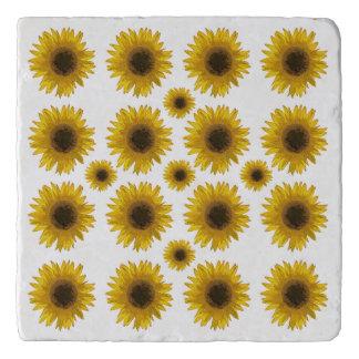 Sonnenblume-überall Land MarmorsteinTrivet Töpfeuntersetzer
