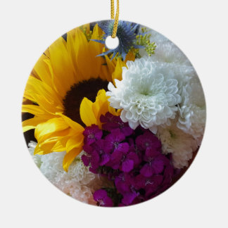 Sonnenblume-Überraschung Keramik Ornament