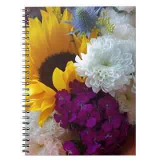 Sonnenblume-Überraschung Spiral Notizblock