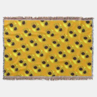 Sonnenblume-umfassende gelbe decke