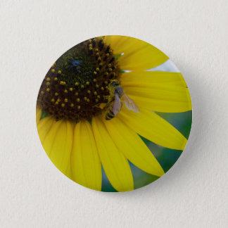 """Sonnenblume-und Bienen-Knopf (2,5"""") Runder Button 5,1 Cm"""