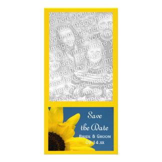 Sonnenblume und blauer Himmel, die Save the Date Individuelle Photo Karten