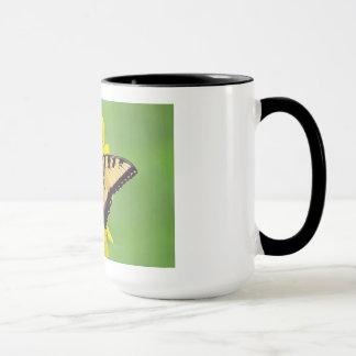 Sonnenblume und Frack-Schmetterling Tasse