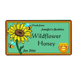 Sonnenblume-und Honig-Topf