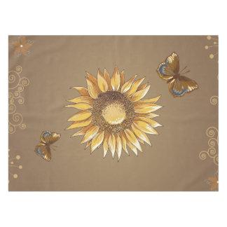 Sonnenblume-und Schmetterlings-Vintages elegantes Tischdecke