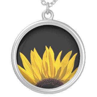 Sonnenblume Versilberte Kette