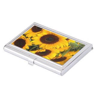 Sonnenblume-Visitenkarte-Halter Visitenkarten Dose