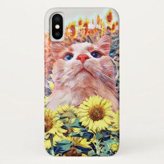 Sonnenblume-Wachposten-kaum dort Smartphone-Fall iPhone X Hülle