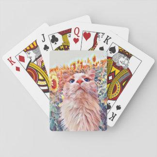 Sonnenblume-Wachposten-Spielkarten Spielkarten
