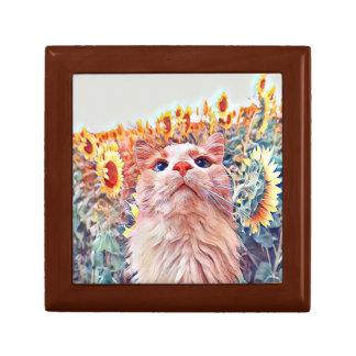 Sonnenblume-Wachpostentrinket-Kasten Geschenkbox