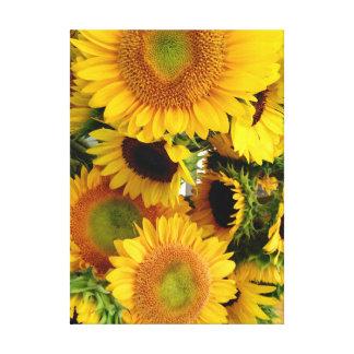 Sonnenblume-Wand-Leinwand-Druck fertigen Größe Leinwanddruck