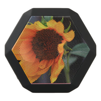 Sonnenblumeblüte Schwarze Bluetooth Lautsprecher
