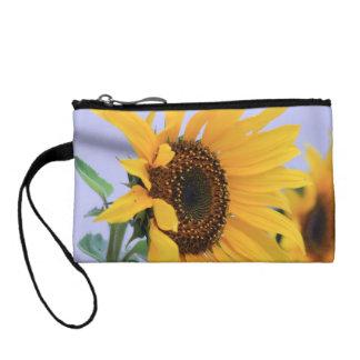 Sonnenblumeblütentasche Kleingeldbörse