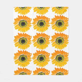 Sonnenblumedecke Fleecedecke