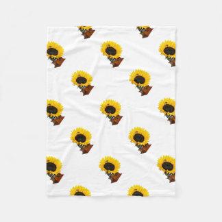 Sonnenblumegrammophon Fleecedecke