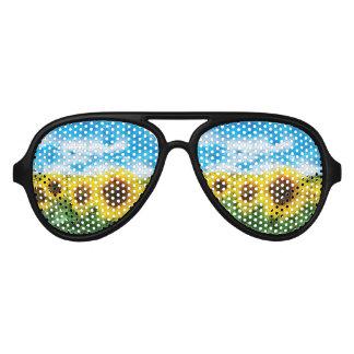 Sonnenblumemalen Partybrille