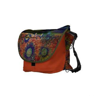 Sonnenblumemandarine facion Bote-Kurier Tasche Kurier Tasche