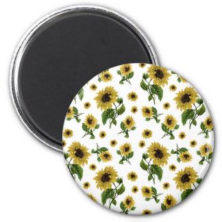 Sonnenblumemuster Runder Magnet 5,7 Cm