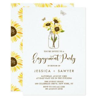 Sonnenblumen auf 12,7 x 17,8 cm einladungskarte