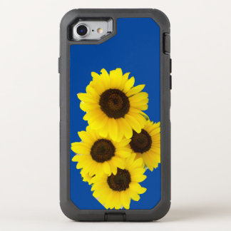 Sonnenblumen auf blauem Hintergrund OtterBox Defender iPhone 8/7 Hülle