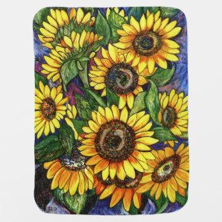 Sonnenblumen Babydecke