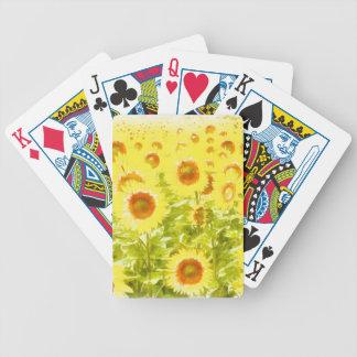 Sonnenblumen Bicycle Spielkarten