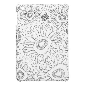Sonnenblumen, die Seite färben iPad Mini Hülle
