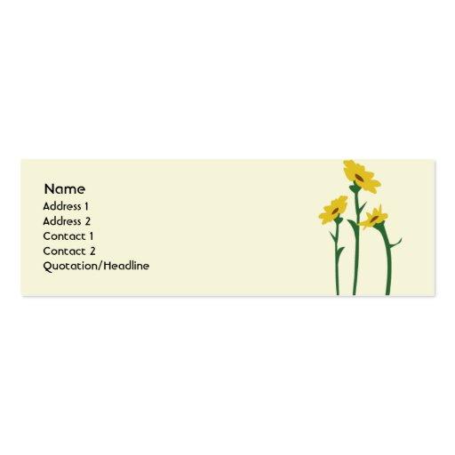 Sonnenblumen d nn visitenkarten vorlagen zazzle for Visitenkarten gratis vorlagen