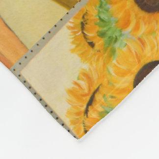 Sonnenblumen durch Fenster Fleecedecke