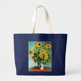 Sonnenblumen durch Taschen-Tasche Claudes Monet Jumbo Stoffbeutel