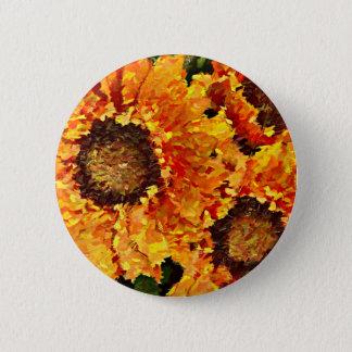 Sonnenblumen extrahiert runder button 5,1 cm