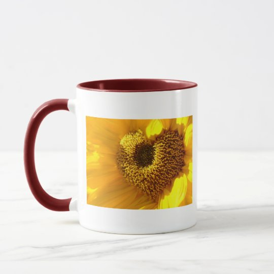 Sonnenblumen Herz Tasse