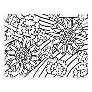 Sonnenblumen im Sommer färben Ihre Karte