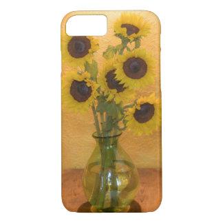 Sonnenblumen im Vase auf Tabelle 2 iPhone 8/7 Hülle