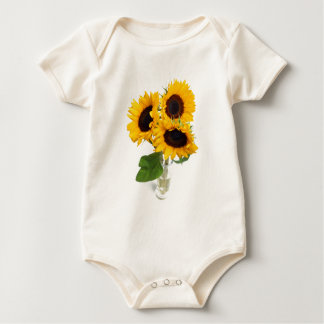 Sonnenblumen in einem Vase Baby Strampler